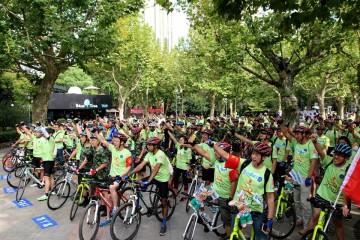 上海黄浦第四届世界无车日低碳骑行