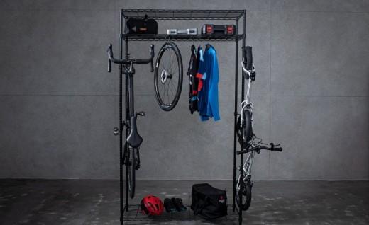 想要单车专用收纳柜?原来买波浪层架就可以DIY!