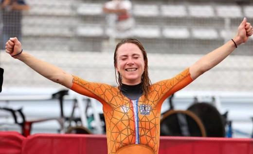 东京奥运会女子个人计时赛,荷兰队范弗勒滕夺冠